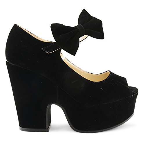 Footwear Sensation - Sandalias fashion mujer Black Suede