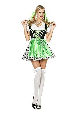 f32f627a2d0156 Dirndl Kostüm Damenkostüme Damen Karneval Fasching Schwarz Grün ...