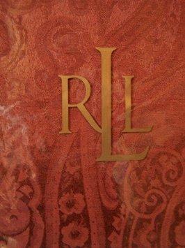 Ralph Lauren Paisley Rust Rectangular Tablecloth, 70-by-104