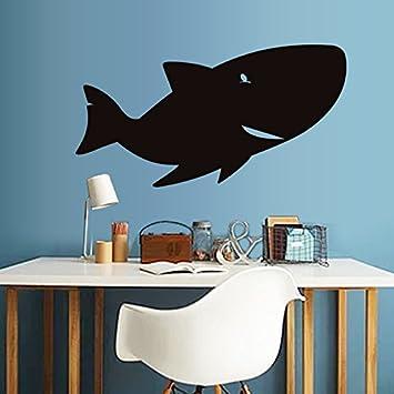 Bomeautify Creativo gran tiburón pizarra pegatinas sala de ...