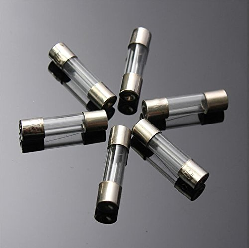 Dreamtop 5x20mm Fast-Blow Glass Fuses Quick Blow Car Glass Tube Fuses for Car Boat Motorcycle