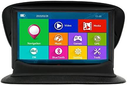 Junsun 7 Pulgadas GPS para Coche Pantalla Táctil Bluetooth AVIN FM 8GB/256MB Actualización Gratis de Mapa de Europa Toda la Vida (con Soporte para ...