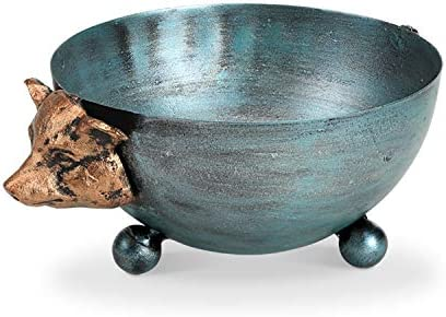 Round Storage Bowl for Fruits or Ornaments SPI Home 51143 Cast Iron Bowl Kitchen Countertop Decor Pig