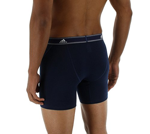adidas Men's Relaxed Performance Stretch Cotton Boxer Briefs Underwear (2-Pack) by adidas (Image #3)