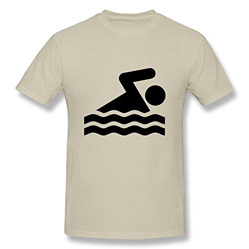 SNOWANG Men's Swimming - VECTOR T-shirt - Man Vector Swimming