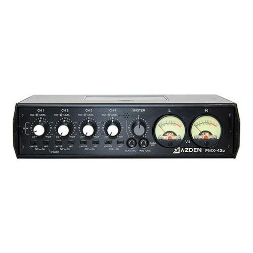 Azden 4 Channel Portable Mic/Line Mixer with USB Digital Audio Output