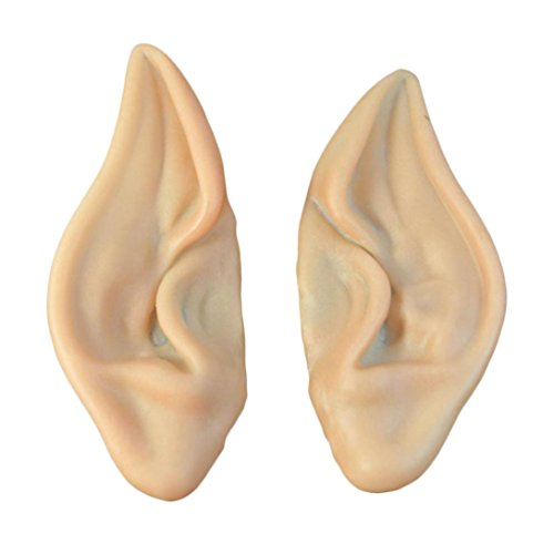 [LOVELYIVA New Fashion 1Pair Pointed Fairy Elf Cosplay Halloween Costume Ear Tips] (Elf Ears Halloween)