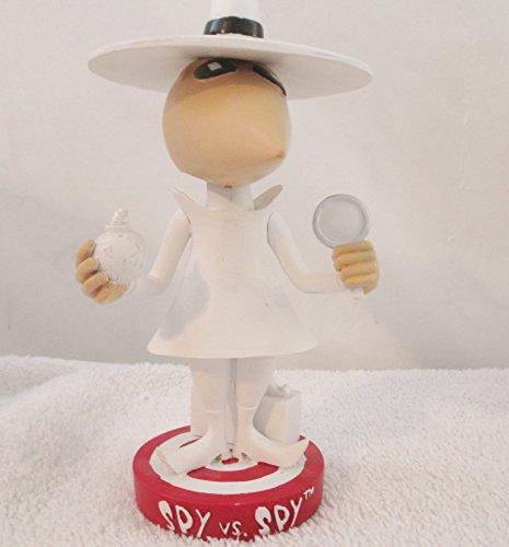 Mad Magazine White Spy Statue 1998 Head Knockers Bobble - Ceramic Head Bobble