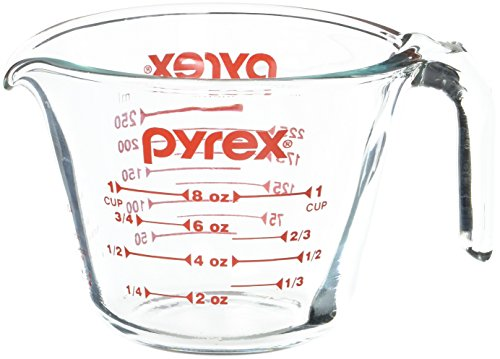 Pyrex Prepware 1-Cup Measuring Cup, Clear with Red Measurements Only $3.59