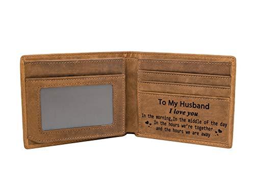 Amazon.com: Monedero de piel con grabado para hombre de Mom ...
