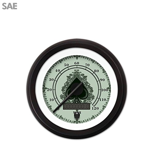 Series Speedometer Instrument (Aurora Instruments Speedometer Gauge-SAE Spade Series Black Modern Needles Black Trim Rings Style Kit Installed )