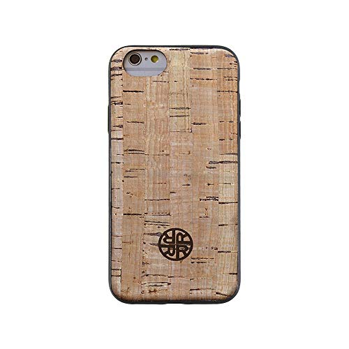 (Wood Case Compatible with iPhone 7 Plus / 8 Plus - Real Cork Wood Case by Reveal Shop - Natural Cork Leather, Eco-Friendly Design (Cork, 7 Plus/8 Plus))