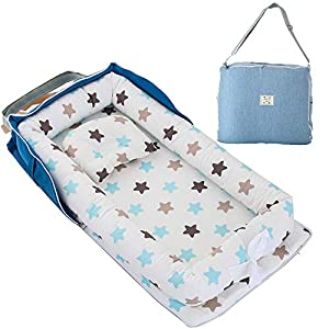 Brandream Portable Baby Bed for Travel Bedroom Star, Baby Nest Bed Inafnt Newborn Bassinet for Crib Breathable & Hypoallergenic Perfect for Co-Sleeping, Hot Baby Shower Gift