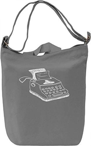 Doodle typewriter Borsa Giornaliera Canvas Canvas Day Bag| 100% Premium Cotton Canvas| DTG Printing|