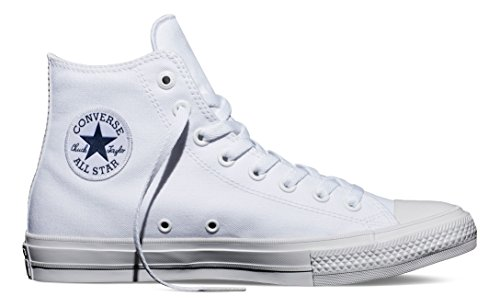 Converse Unisex Chuck Taylor All Star II Hi White/White Basketball Shoe 11.5 Men US