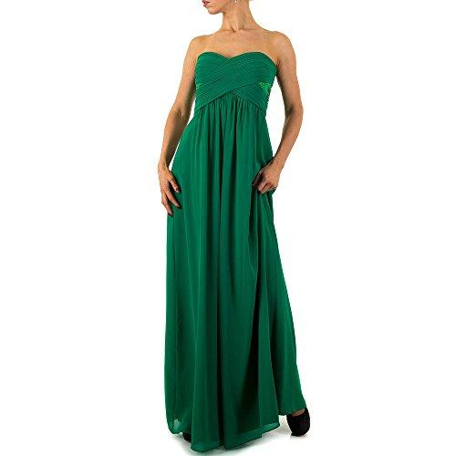 Damen Vera Mont Kleid Ital Für Design Maxi Grün Abend 71FFqg