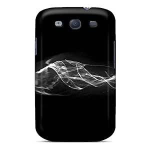 Anti-scratch And Shatterproof Black Phone Case For Galaxy S3/ High Quality Tpu Case