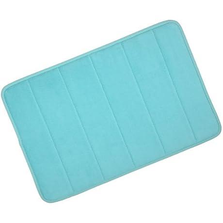 Lagoon Microfibre Memory Foam Bathroom Bath Mat With Non Slip Back 40 X 60cm