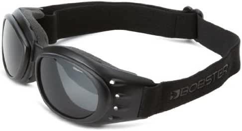 Bobster Cruiser II Interchangeable Motorcycle Touring Sunglasses/Goggles - Black/Anti-Fog Smoked, Amber, Clear