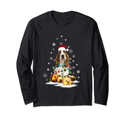 Basset Hound Christmas Long Sleeve T-Shirt Dog