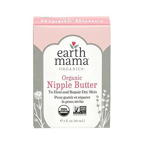Earth Mama Organic Nipple Butter for Breastfeeding and Dry Skin, 2-Fluid Ounce