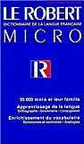 le robert micro dictionnaire de la langue francaise edition poche