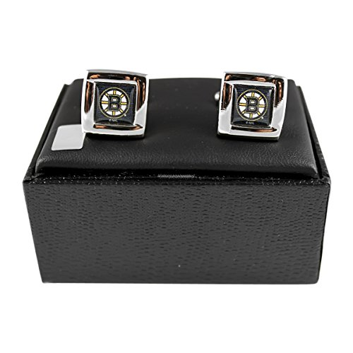 - NHL Boston Bruins Square Cuff Links, Team Color, 4