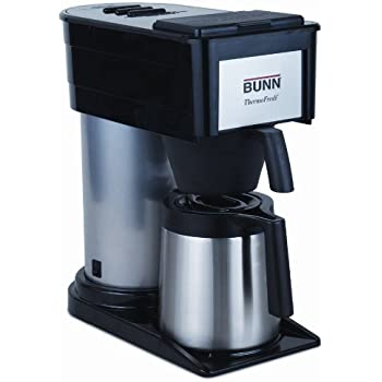 BUNN BTD Velocity Brew High Altitude 10-Cup Thermal Carafe Home Coffee Brewer, Black