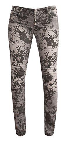 Coccara Jeans - Jambe Droite - Femme * Taille Unique Cn0037 - Grey Print