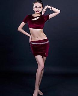 Abbigliamento di Formazione di Danza del Ventre delle Donne/Top e gonne / 2 Pezzi/Prestazioni di Danza di palco