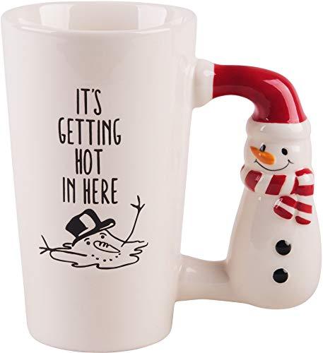 (Home Essentials It's Getting Hot in Here Snowman Latte Mug, 17 Oz)