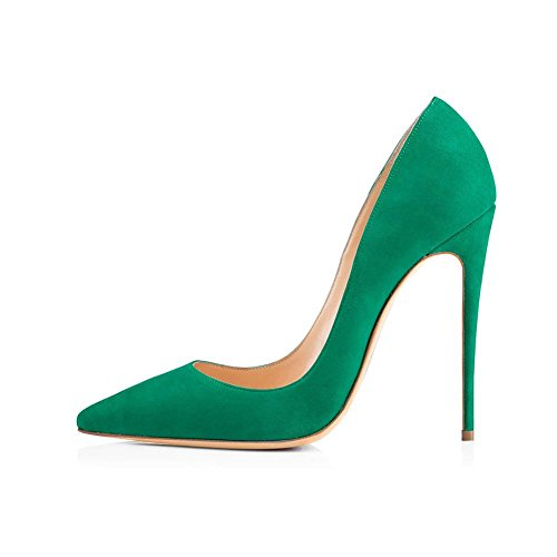 40414243444546 Antiscivolo Party a Fine Suede Shallow Size Single green Tacco PU YWNC Shoes Punta punta Mouth Stiletto Donna 39 Alto Pump Banchetto Large gROFXqp
