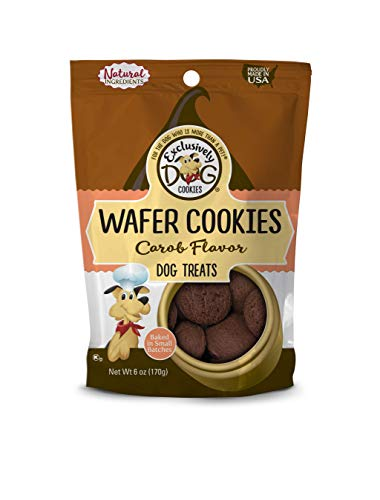 Exclusively Pet Wafer Cookies-Carob Flavor, 8-Ounce Package