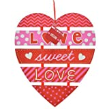 Heart Shaped Valentine Message Hanging Hearts Wall Decorations (Love Sweet Love)