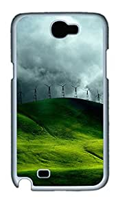 Samsung Note 2 Case Eye Protection Green Scenery PC Custom Samsung Note 2 Case Cover White