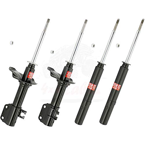 KYB Quick Mount Kit of 4 Struts (Front + Rear) fits GEO Metro 1989-95 GR-2/EXCEL-G Twin Tube Gas Charged for Replacement, Performance, Leveling, Touring & 4x4 Offroad