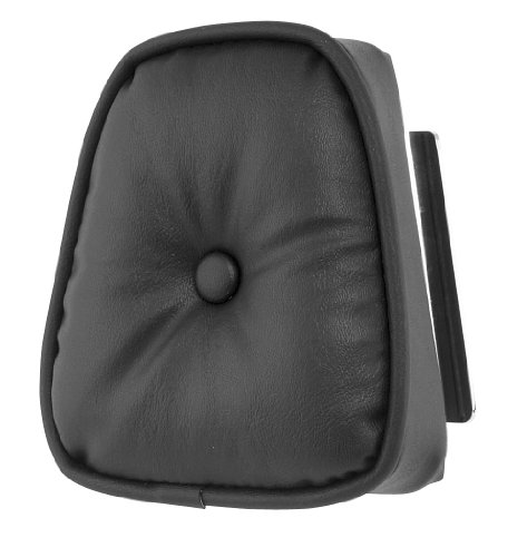 Khrome Werks Round Pillow Sissy Bar Pad Black for Harley ()