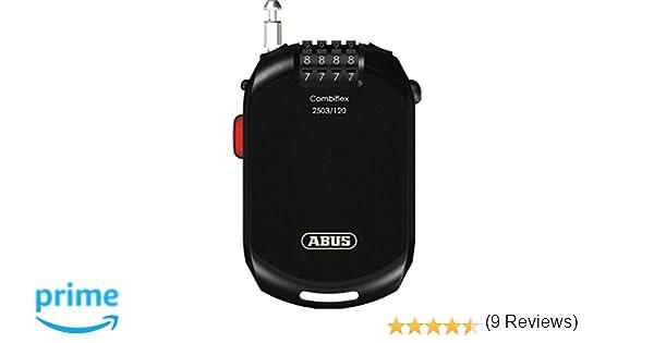 Abus Combiflex 2503 - Cierre de Cable, 120 cm, Color Negro: Amazon.es: Coche y moto