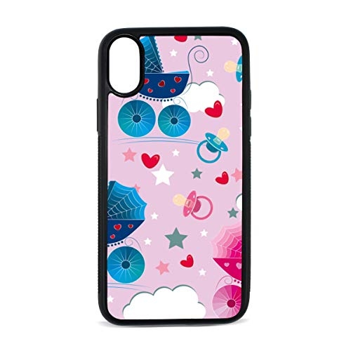 Carriage Castle Fairytale Catton Digital Print TPU Pc Pearl Plate Cover Phone Hard Case Cell Phone Accessories Compatible with Protective Apple Iphonex/xs Case 5.8 -