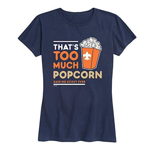 Boy Scouts of America Thats Too Much Popcorn - Ladies Short Sleeve Classic Fit Tee Navy
