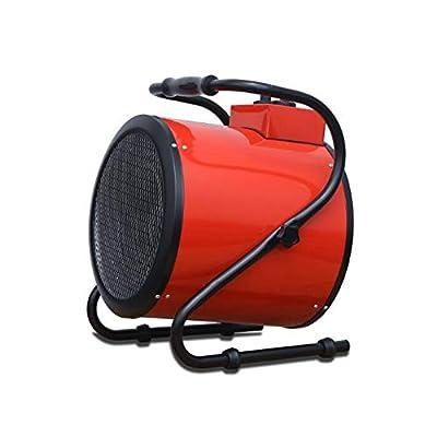 CJC Electric Fan Heater Warmer Thermostat Silent Waterproof 3 Speed Home Greenhouse Workshop Garage Red