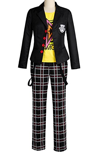 Ya-cos Persona 5 Ryuji Sakamoto Ryuji Sakamoto Costume Academy Uniform Full Set Attire Outfit