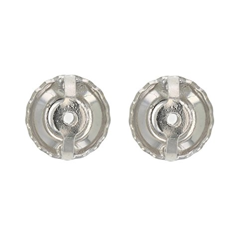 14K White Gold Screw Backs Replacement (1 pair)