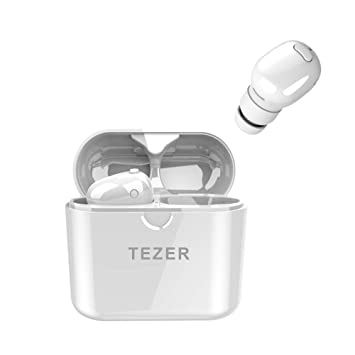 READ Tezer Bluetooth Headset - Mini Auriculares Bluetooth V5.0 Wireless Auricular Invisible en oído