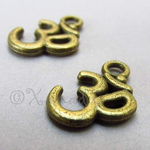Jewelry Making Supplies Om Aum Ohm Yoga Mediation Wholesale Brass Charm Pendant C2815-10PCs Personalized Necklaces Bracelets and Other Jewelry