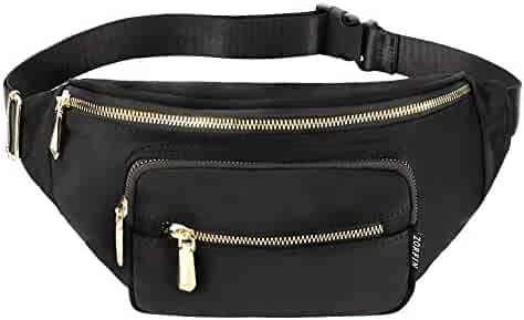 ZORFIN Fanny Pack Nylon Water Resistant Waist Bag Pack for Man Women