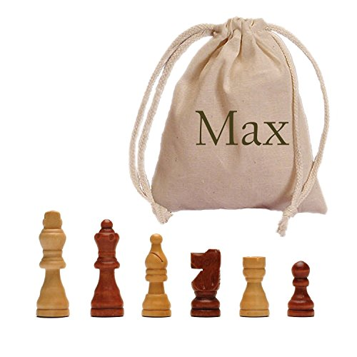 WE Games French Staunton Wood Chessmen with 2.5 in. King - In Custom Printed Bag