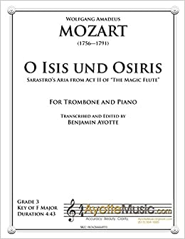 Amazon com: O Isis und Osiris (Solo Trombone with Piano