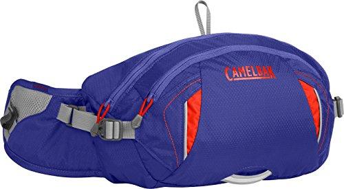 (CamelBak FlashFlo LR Crux Lumbar Reservoir Hydration Waist Pack, Deep Amethyst/Fiery Coral, 1.5 L/50 oz)