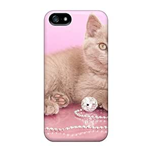 DeannaTodd LcC34516giYS For Iphone 5/5S Phone Case Cover Protective Cases Cat On Pink